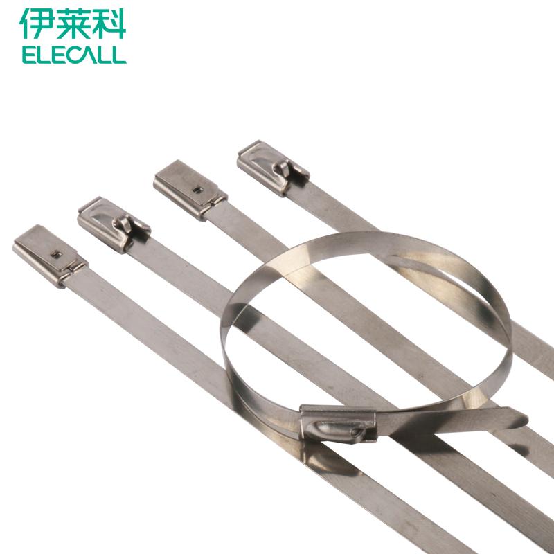 SLT-7单勾式白钢不锈钢阶梯扎带-乐清市百德电气有限公司
